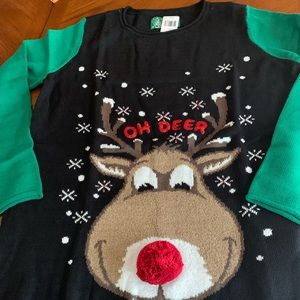 Sweaters - Maternity Reindeer Ugly Sweater
